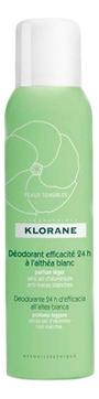 Klorane Дезодорант Deodorant Efficacite 24h Спрей с Белым Алтеем 24 Часа Эффективности, 125 мл недорого
