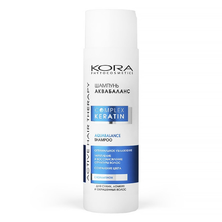 Кора Шампунь Shampoo Aquabalance Аквабаланс, 250 мл шампунь фитокератин