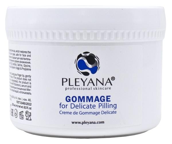 Pleyana Гоммаж для Деликатного Пилинга, 250 мл аппарат для пилинга ступней wellneo легкий шаг