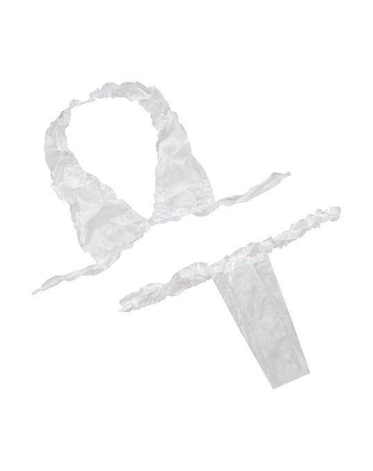 IGRObeauty Трусики Женские, Материал СМС, с Рюшей, Белые, 25 шт