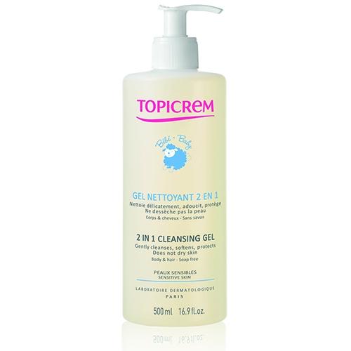 Фото - Topicrem Гель 2 in 1 Cleansing Gel 2 в 1 Очищающий для Детей, 500 мл topicrem гель pv cleansing gel очищающий с антимикотическим эффектом pv 200 мл