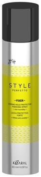 Kaaral Защитный Лак для Волос Сильной Фиксации Style Perfetto Fixer Strong Hold Protective Finishing Spray, 400 мл paul mitchell лак средней фиксации awapuhi finishing spray 75 мл