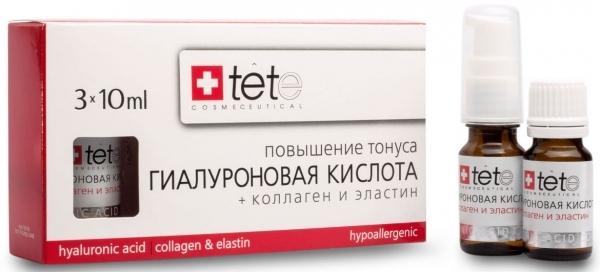 TETe Cosmeceutical Гиалуронова кислота + Коллаген и эластин, 30 мл tete cosmeceutical гиалуронова кислота комплекс пептидов 30 мл