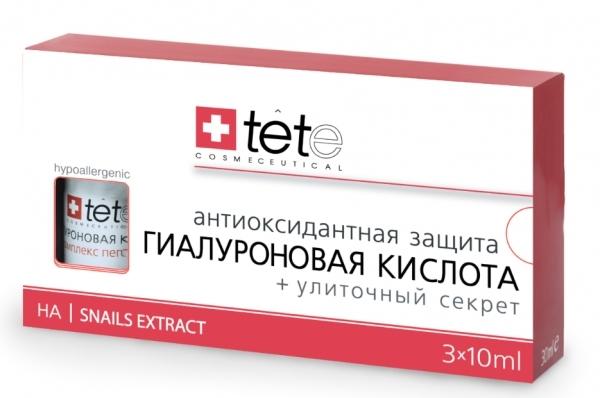 TETe Cosmeceutical Гиалуроновая кислота + Улиточный Секрет, 30 мл