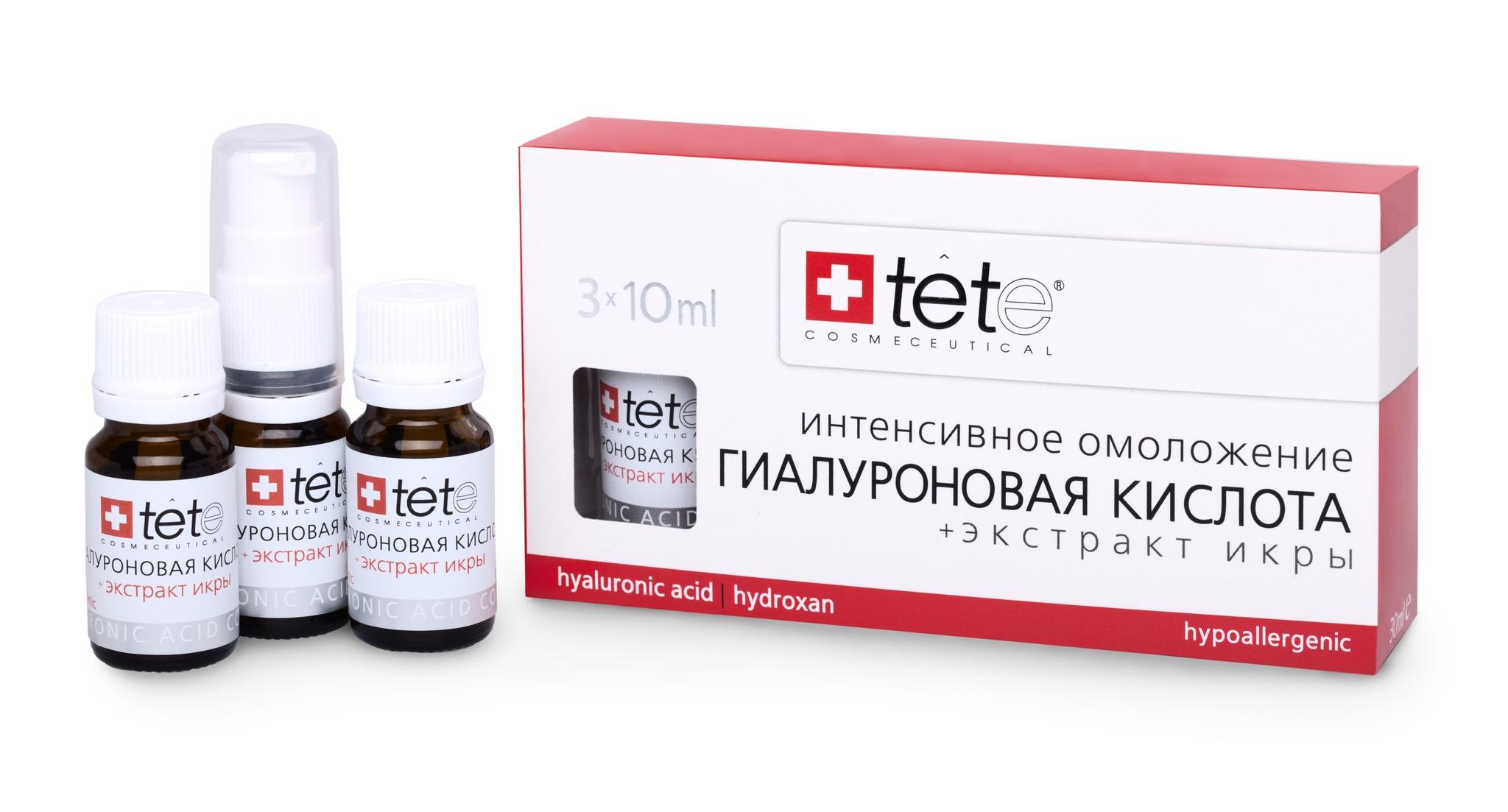 TETe Cosmeceutical Гиалуроновая кислота + экстракт икры, 30 мл косметика кристина гиалуроновая кислота