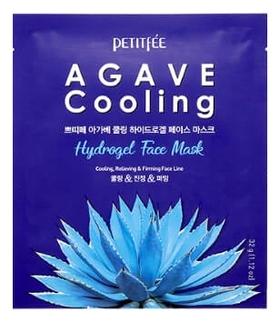 Petitfee Маска Agave Cooling Hydrogel Face Mask Гидрогелевая для Лица с Охлаждающим Эффектом, 32г