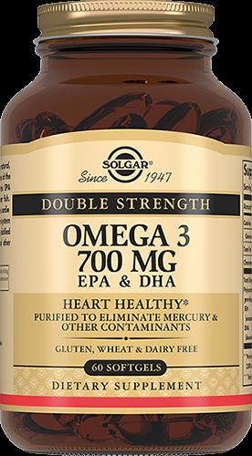 цена Solgar Омега 3 Omega-3 Двойная 700 мг ЭПК и ДГК Капсулы №60