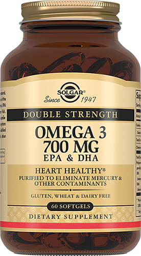 Solgar Омега 3 Omega-3 Двойная 700 мг ЭПК и ДГК Капсулы №60 комплекс аминокислот geon омега ликопин 700 мг 90 капсул