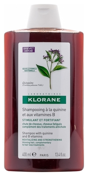 Klorane Шампунь с Экстрактом Хинина Укрепляющий для Всех Типов Волос, 400 мл klorane шампунь с воском магнолии для всех типов волос 200 мл