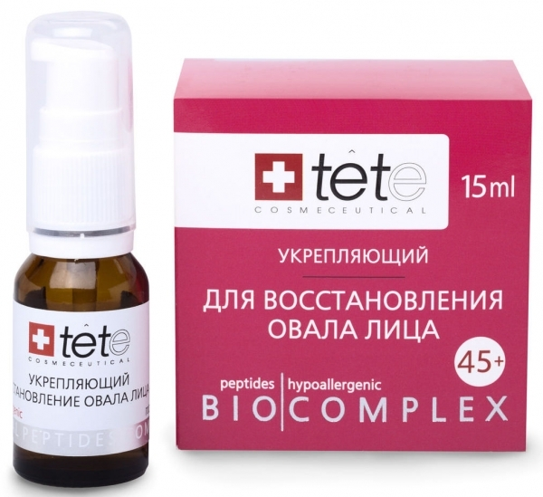 TETe Cosmeceutical Биокомплекс укрепляющий для восстановления овала лица 45+, 15 мл