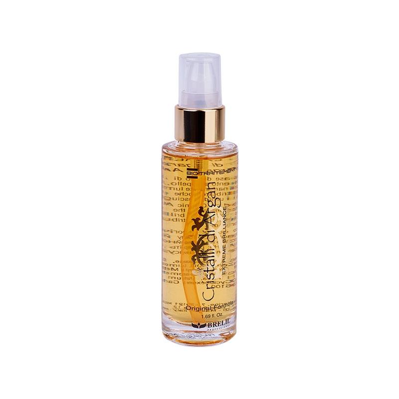 Brelil Professional Однофазное средство для восстановления, разглаживания  и экстремального блеска волос с маслом Аргании, 50 мл