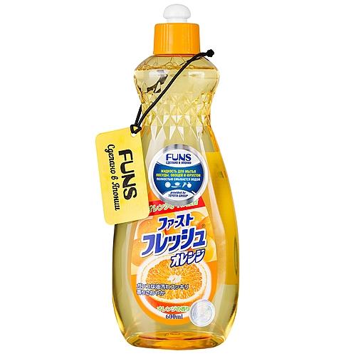 Funs Жидкость для Мытья Посуды, Овощей и Фруктов, Свежий Апельсин, 600 мл