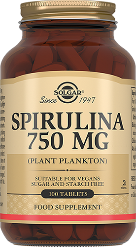 Solgar Спирулина Spirulina Таблетки 750 мг №100