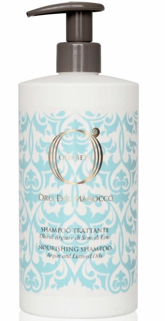 Barex Шампунь Olioseta Oro del Marocco Nourishing Shampoo Питательный  с Маслом Арганы и Семян Льна, 750 мл