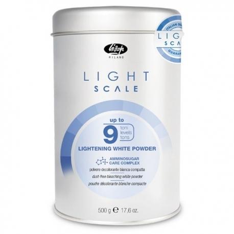 Lisap Порошок, Обесцвечивающий на 9 Тонов Light Scale Lightening White Powder, 500г