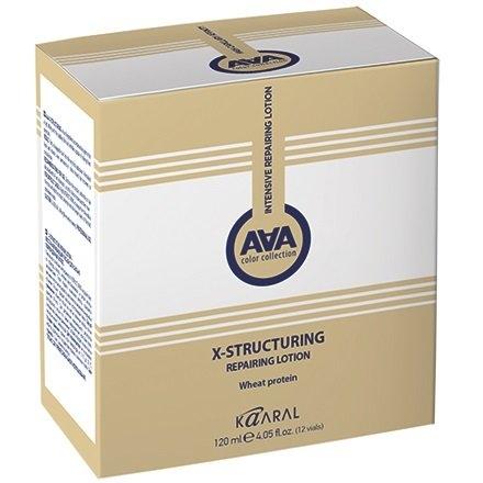 Kaaral Лосьон AAA X-Form X-Structuring Repairing Lotion Восстанавливающий для Сильно Поврежденных Волос с Пшеничными Протеинами, 120 мл ducray неоптид лосьон от выпадения волос для мужчин 100 мл