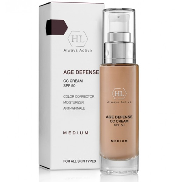 цена на Holy Land Крем Age Defense CC Cream Medium (SPF50) Корректирующий, 50 мл