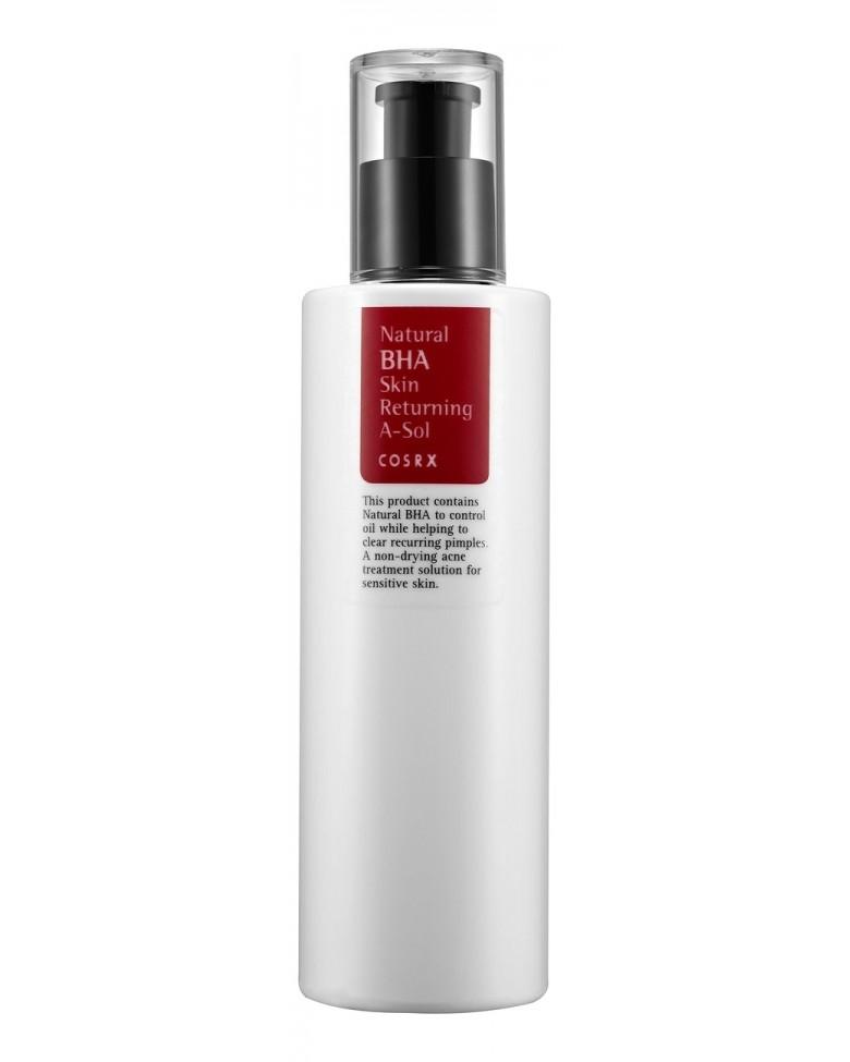 Cosrx Лечебный Тоник для Проблемной Кожи с AHA- и BHA Кислотами Прополисом Natural Skin Returning A-Sol, 100 мл