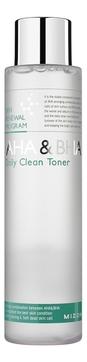 MIZON Тонер AHA & BHA Daily Clean Toner для Лица, 150 мл