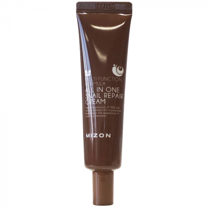 MIZON Крем All In One Snail Repair Cream для Лица с Муцином Улитки, 35 мл