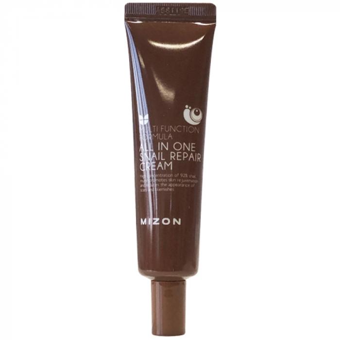 MIZON Крем All In One Snail Repair Cream для Лица с Муцином Улитки, 35 мл