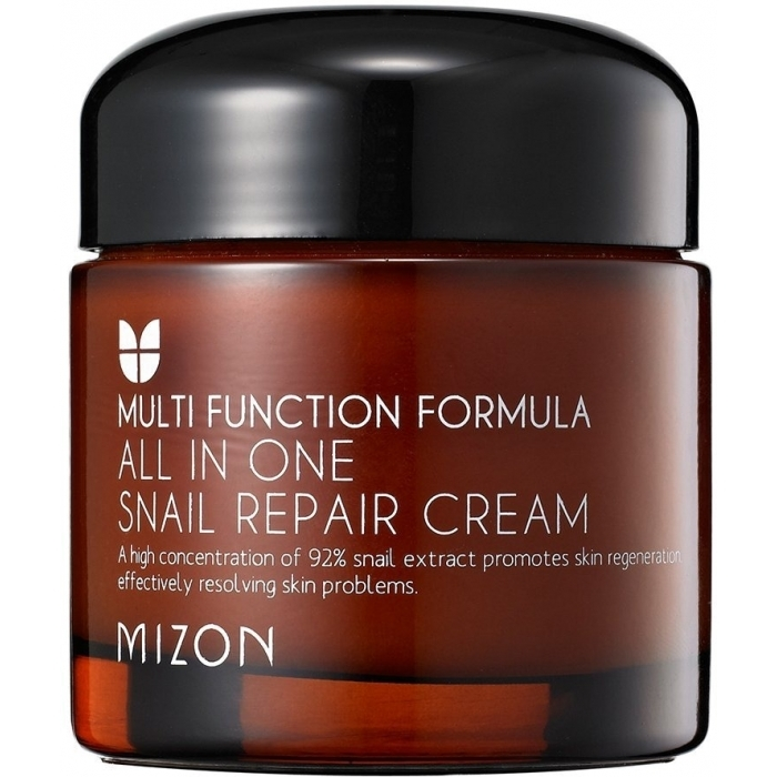 MIZON Крем All In One Snail Repair Cream Mini для Лица с Муцином Улитки, 75 мл
