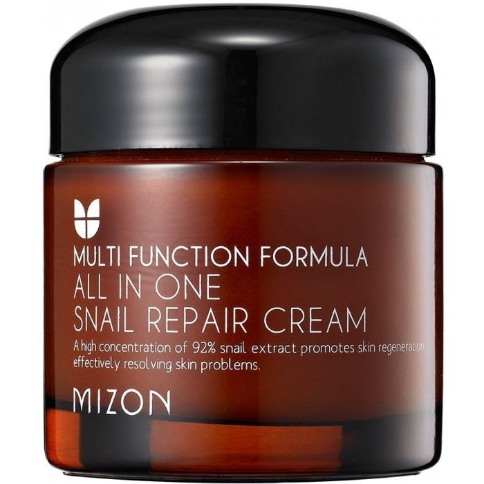 MIZON Крем All In One Snail Repair Cream Mini для Лица с Муцином Улитки, 75 мл гель для лица с улиточной слизью