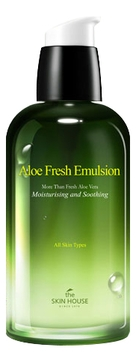 Фото - The Skin House Эмульсия Aloe Fresh Emulsion Увлажняющая с Экстрактом Алоэ, 130 мл эмульсия для лица с экстрактом алоэ aloe visible difference fresh emulsion 350мл