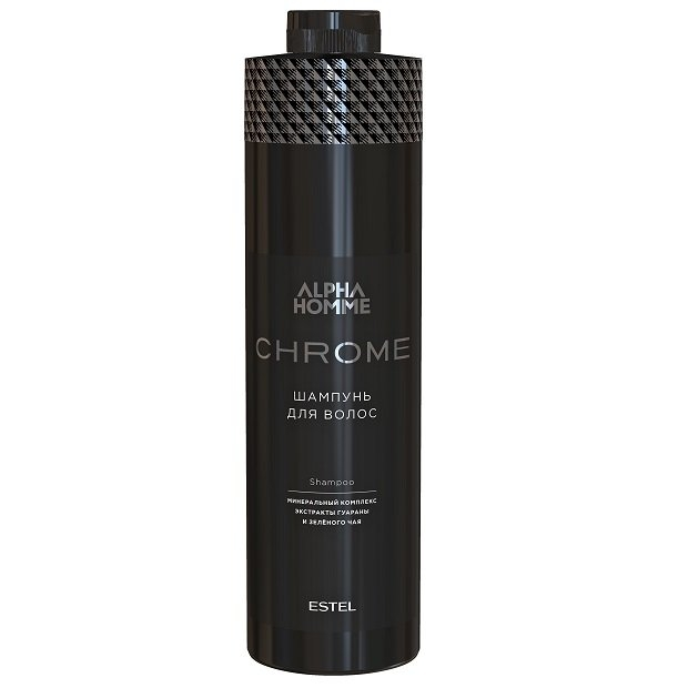ESTEL Шампунь Alpha Homme Chrome Shampoo для Волос, 1000 мл