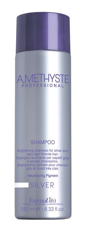 Farmavita Шампунь Amethyste Silver для Осветленных и Седых Волос, 250 мл