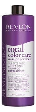 REVLON Шампунь Anifading Shampoo Blondes Антивымывание Цвета для Блондинок, 1000 мл revlon шампунь anifading shampoo анти вымывание цвета без сульфатов 1000 мл