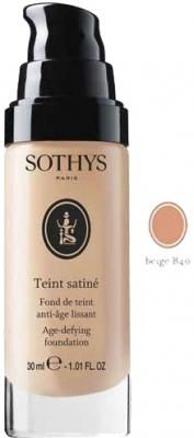 Sothys Тональная Anti-Age Основа Teint Satine с Разглаживающим Действием (Проф) Бежевый B40, 25 мл