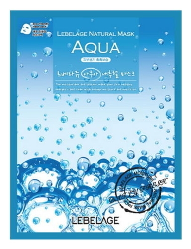 Lebelage Тканевая Маска для Лица Увлажняющая Aqua Natural Mask, 23г