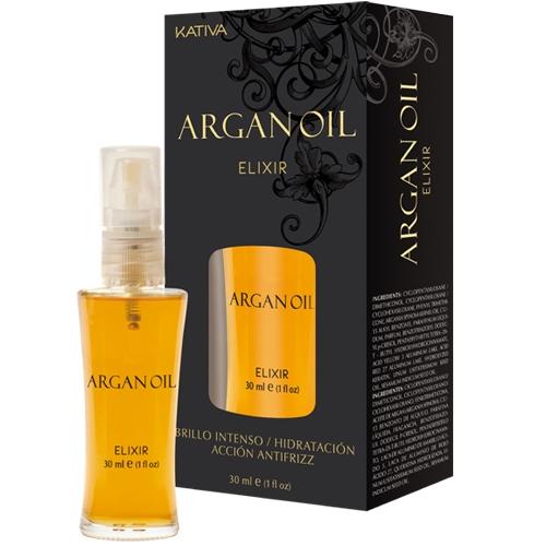 Kativa Масло Argan Oil Защитное для Волос Эликсир Арганы, 30 мл несмываемое масло для волос