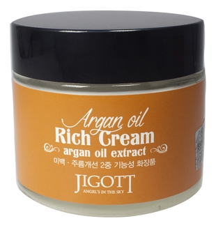 JIGOTT Крем Argan Oil Rich Cream для Лица с Аргановым Маслом, 70 мл chi luxury black seed oil curl defining cream gel