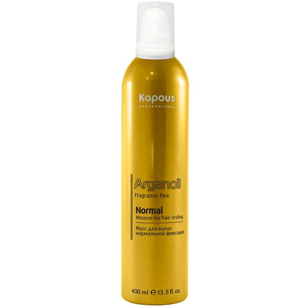Kapous Мусс Arganoil для Укладки Волос Нормальной Фиксации с Маслом Арганы, 400 мл мусс для волос нормальной фиксации 400 мл estel airex