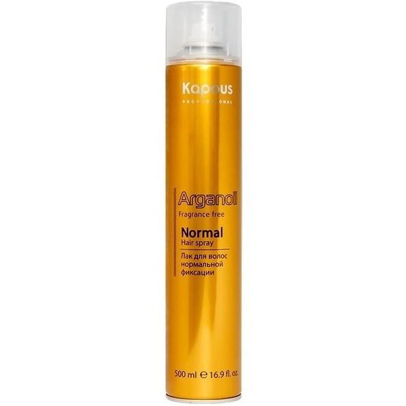 Kapous Лак Arganoil Аэрозольный для Волос Нормальной Фиксации с Маслом Арганы, 500 мл kapous лак аэрозольный для волос нормальной фиксации 750мл