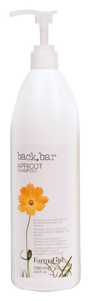 Farmavita Шампунь Back Bar Apricot Shampoo Абрико Абрикос, 1000 мл