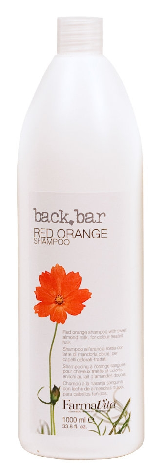 Farmavita Шампунь Back Bar Red Orange Shampoo Красный Апельсин, 1000 мл