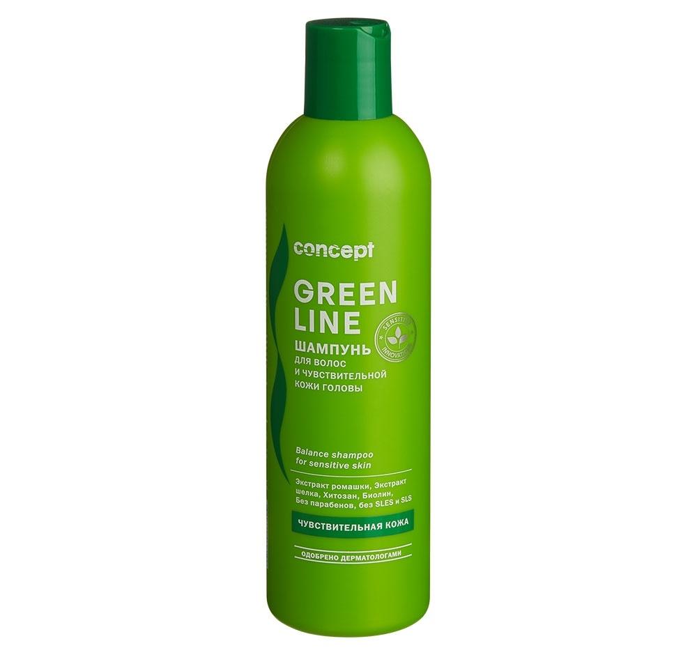 Concept Шампунь Balance Shampoo for Sensitive Skin для Чувствительной Кожи Головы, 300 мл