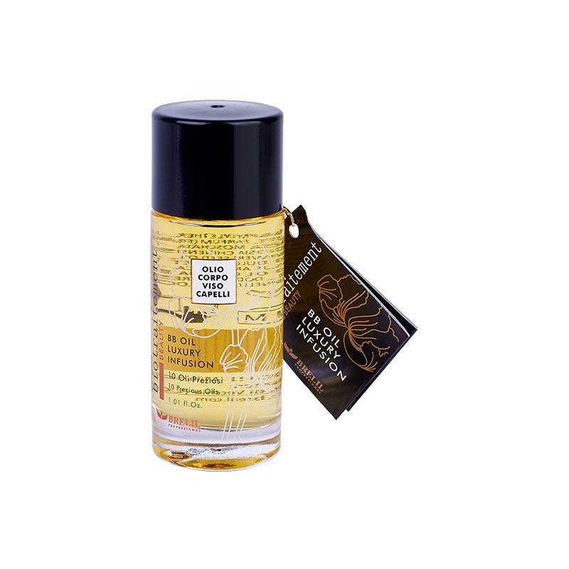Brelil Professional Масло BB Oil Luxury Infusion многофунциональное для Волос, лица и тела, 12 x 30 мл