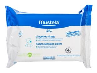 Mustela Салфетки Bebe Lingettes Visage Очищающие для Лица №25 Бебе