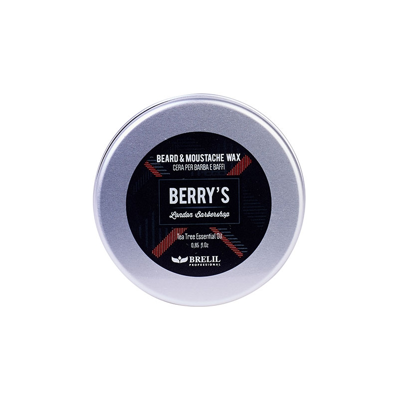 Brelil Professional Воск для бороды и усов BERRIES BEARD & MOUSTACHE WAX, 25 мл nirvel balsam бальзам для кожи лица бороды и усов 150 мл