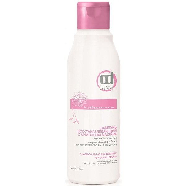 Constant Delight Шампунь Bio Flowers Water Repair Shampoo Восстанавливающий с Аргановым Маслом, 250 мл
