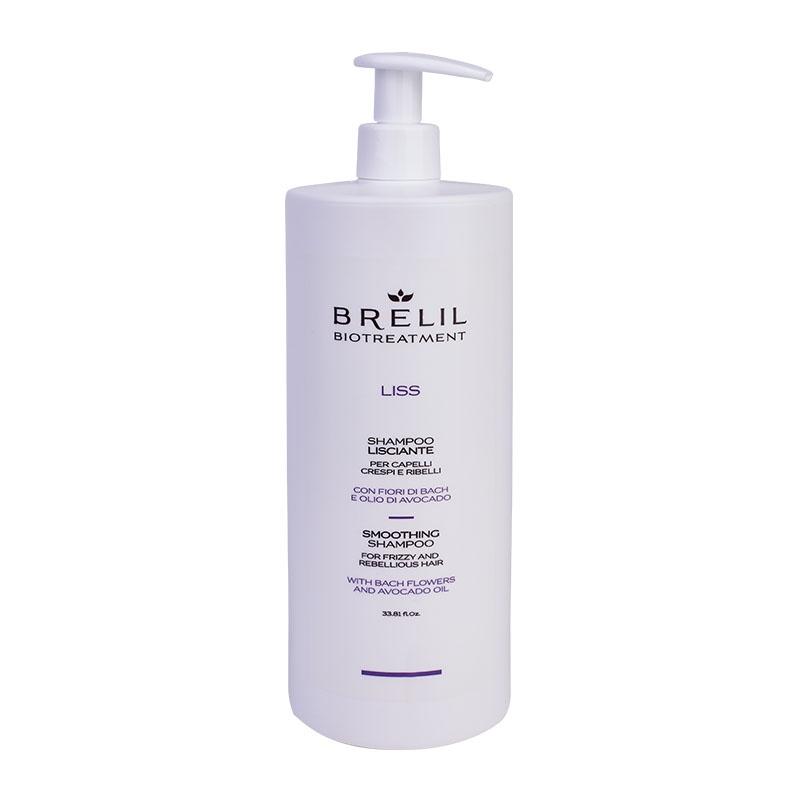 Brelil Professional Шампунь Bio Traitement Liss Shampoo разглаживающий, 1000 мл