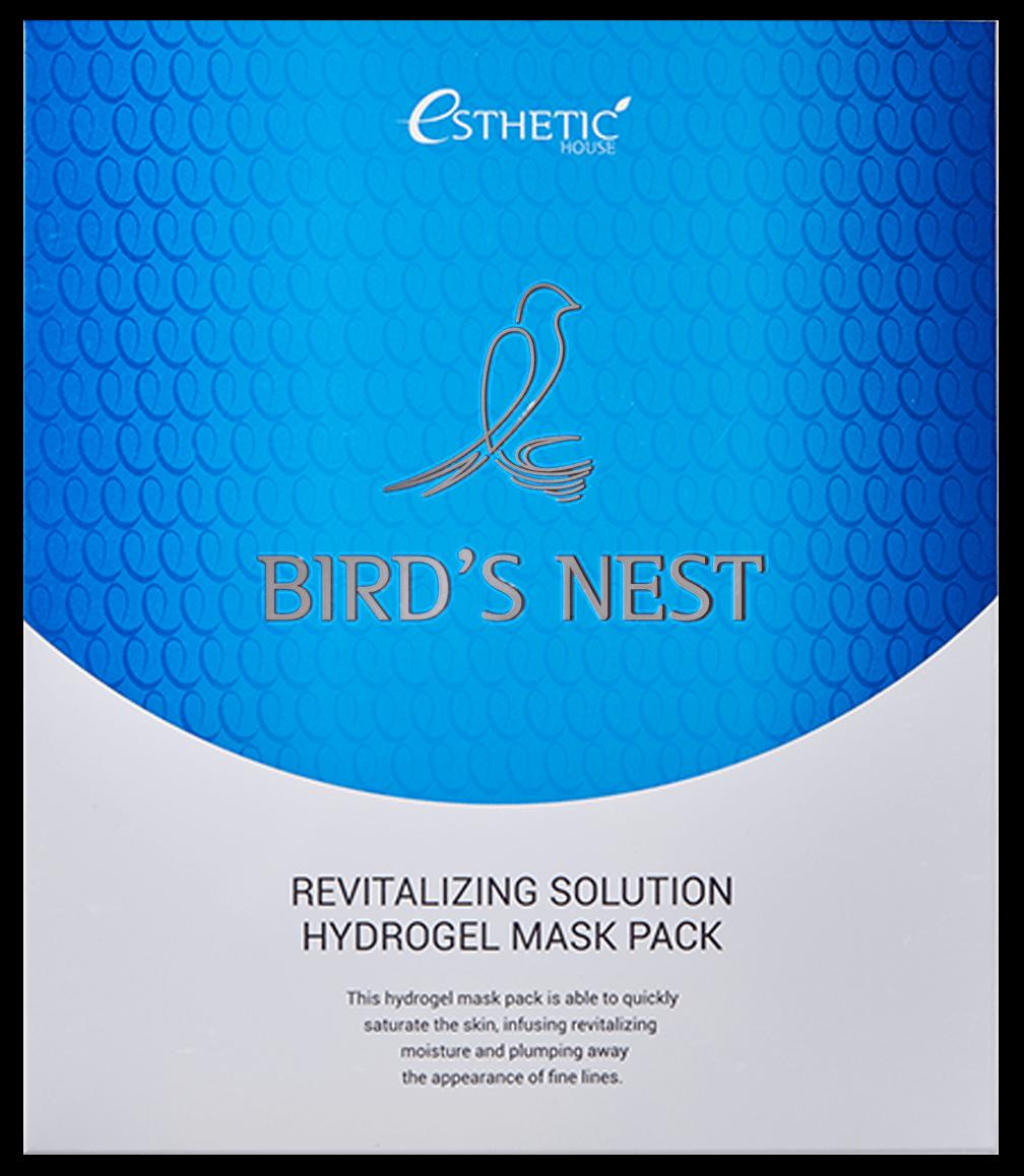 Esthetic House Маска Birds Nest Revitalizing Hydrogel Mask Pack Гидрогелевая для Лица, 5 шт