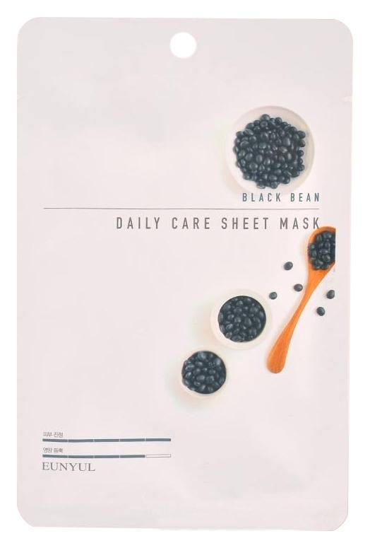 Eunyul Тканевая Маска для Лица с Экстрактом Черных Бобов Black Bean Daily Care Sheet Mask, 22г