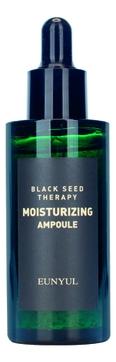 Eunyul Сыворотка Black Seed Therapy Moisturizing Ampoule Ампульная Антивозрастная для Лица с Растительными Экстрактами и Аденозином, 50 мл eunyul yellow seed therapy vital ampoule ампульная витаминизирующая сыворотка для лица 50 мл