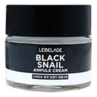Lebelage Ампульный Крем с Муцином Чёрной Улитки Black Snail Ampule Cream, 70 мл