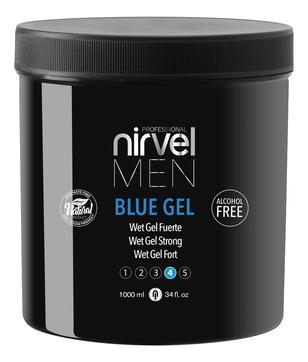 цена Nirvel Professional Гель Blue Gel для Укладки Волос Сильной Фиксации, 1000 мл онлайн в 2017 году